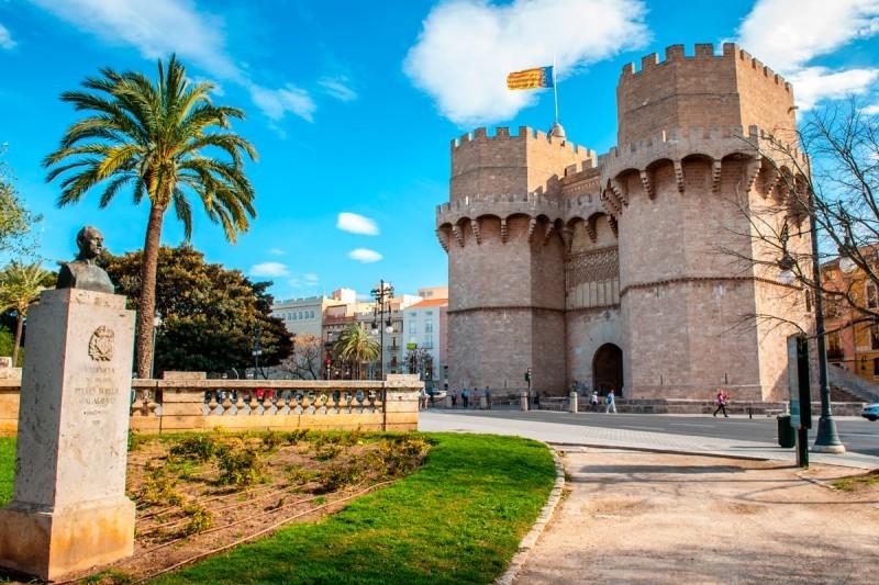 The tower of Serrano in Valencia